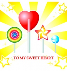 sweet heart card vector image vector image