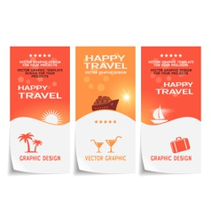 Travel banner poster sticker flyer ticket vector image vector image