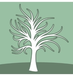 Abstract art tree green color vector image vector image