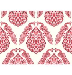Birds On Tree Seamless Pattern vector image