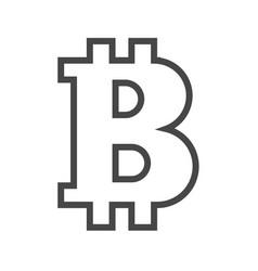bitcoin thin line icon vector image