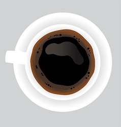 Cup of black coffee on grey background vector image vector image
