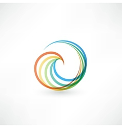 Design elements with spiral motion vector image vector image