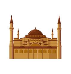 hagia sophia museum in istanbul turkey isolated vector image