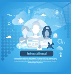 international social media communication web vector image