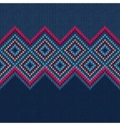 Seamless Pattern Knit Woolen Ornament Texture vector image