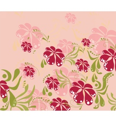 Spring Summer colorful flower background vector image vector image