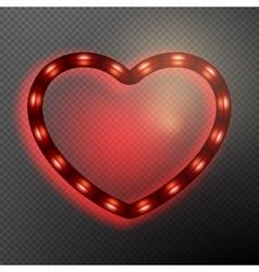 Valentine s Day neon heart EPS 10 vector image