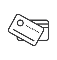 cards payment line icon sign vector image vector image