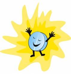 happy pill vector image vector image
