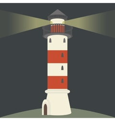 Single lighthouse vector image