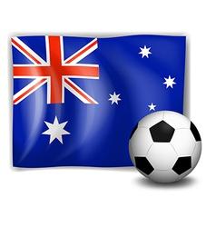 A ball and the australian flag vector