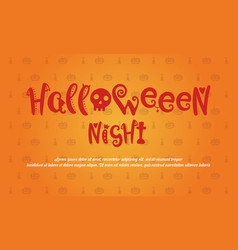 halloween style greeting card collection vector image