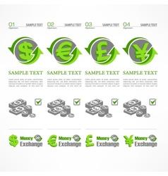 Money symbol infographic vector image vector image