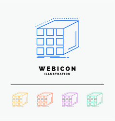 abstract aggregation cube dimensional matrix 5 vector image