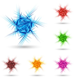 Abstract fluffy star vector