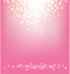 Abstract magic Light on sweet pink background vector