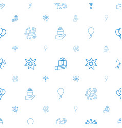 Anniversary icons pattern seamless white vector