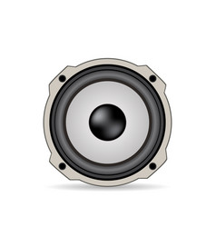 Audio speaker isolated with shadow vector