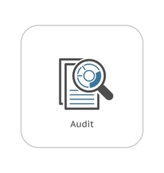 Audit Icon Business Concept Flat Design vector