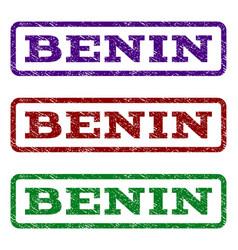benin watermark stamp vector image
