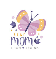 Best mom logo design happy mothers day creative vector