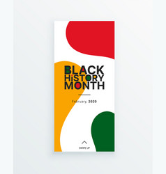 black history month stained veryical banner vector image