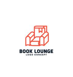 Book lounge logo vector