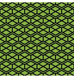 Bright symmetric endless pattern with zigzag black vector image