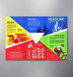 Brochure leaflet design tri-fold template vector