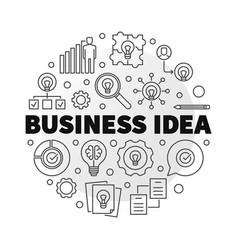 business idea concept circular outline vector image