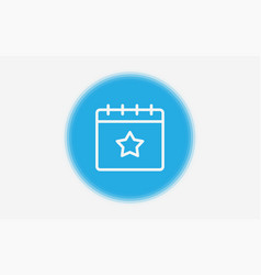 calendar icon sign symbol vector image