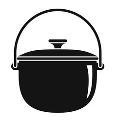 camp cauldron icon simple style vector image