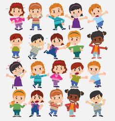 cartoon character boys and girls set vector image