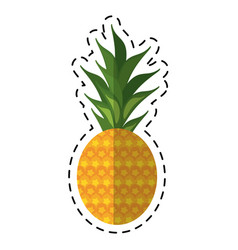 cartoon sweet pineapple tropical fruit icon vector image