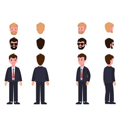 Character collection items vector