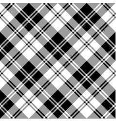 Classic plaid black white pixel seamless pattern vector