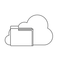 cloud computing symbol vector image