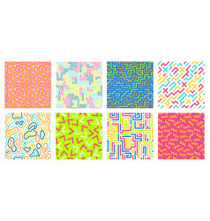 color seamless geometric pattern colorful maze vector image