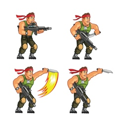 Commando Knife Attack Game Sprite vector