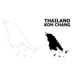 Contour dotted map koh chang with vector
