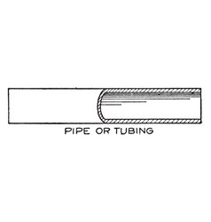 Conventional breaks symbols pipe or tubing by vector
