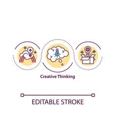 Creative thinking concept icon vector