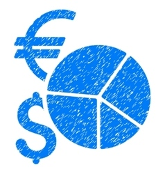 Currency Pie Chart Grainy Texture Icon vector