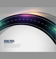 curved asphalt road track background vector image