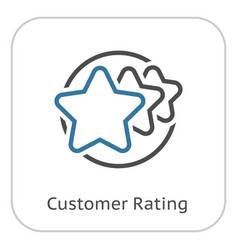Customer rating line icon vector