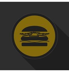 dark gray and yellow icon - hamburger vector image