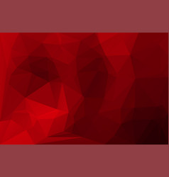 Deep burgundy red low poly background vector