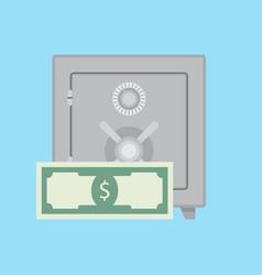 deposit safe vector image