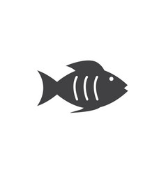 fish graphic design template isolated vector image